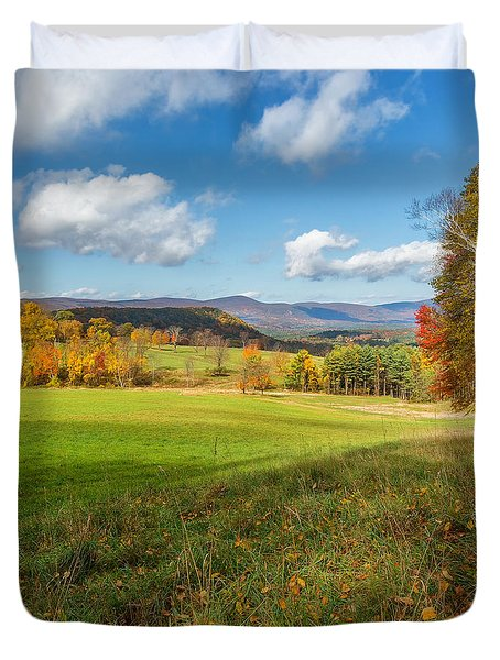 Over The Hills Square Duvet Cover by Bill Wakeley