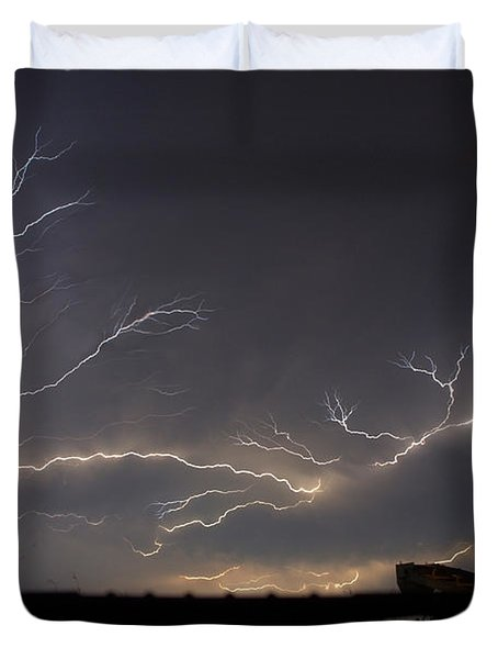 Duvet Cover featuring the photograph Over The Lake by Charlotte Schafer