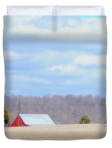 Over The Rise - Kentucky Duvet Cover by Paulette B Wright