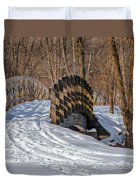 Over The River And Through The Woods Duvet Cover by Susan  McMenamin
