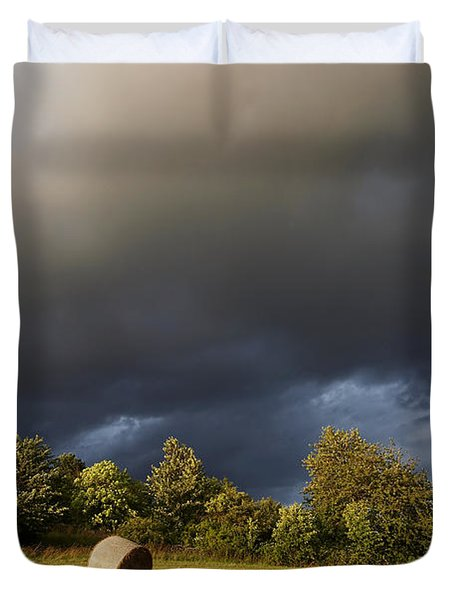 Overcast - Before Rain Duvet Cover by Michal Boubin