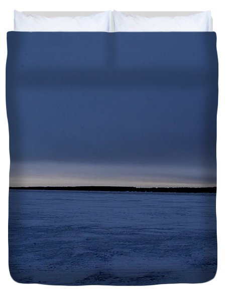 Duvet Cover featuring the photograph Overcast Sunrise 3  by Lyle Crump