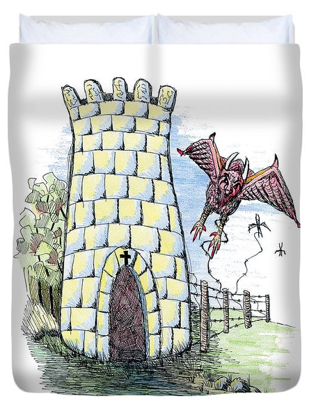 Overcome Evil With Good Duvet Cover by Tanya Provines