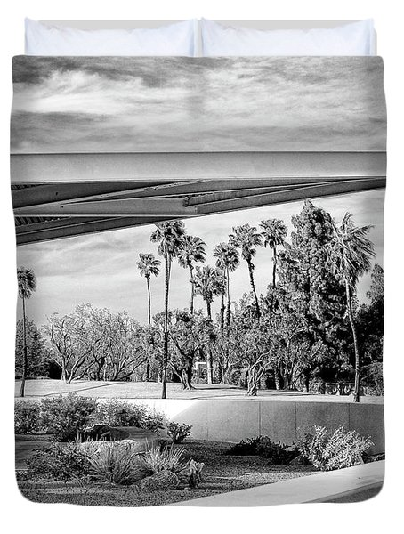 Overhang Bw Palm Springs Duvet Cover by William Dey