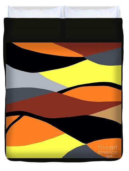 Overlap Duvet Cover by Eloise Schneider