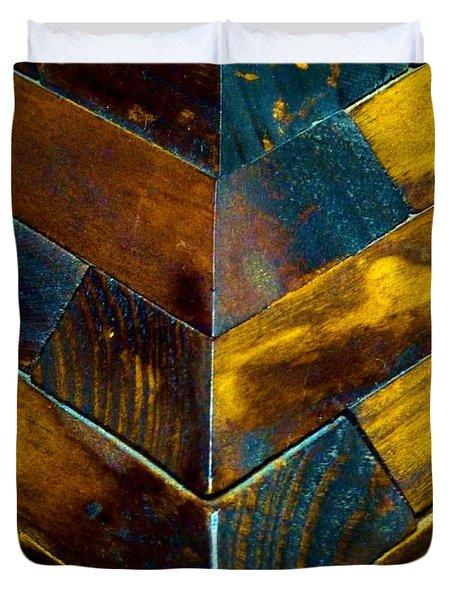 Overlap Duvet Cover by Newel Hunter