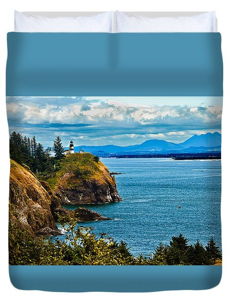 Overlooking Duvet Cover by Robert Bales