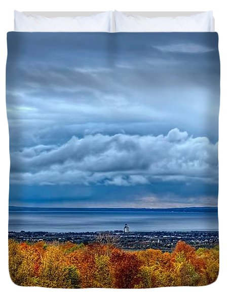 Overlooking The Bay Duvet Cover
