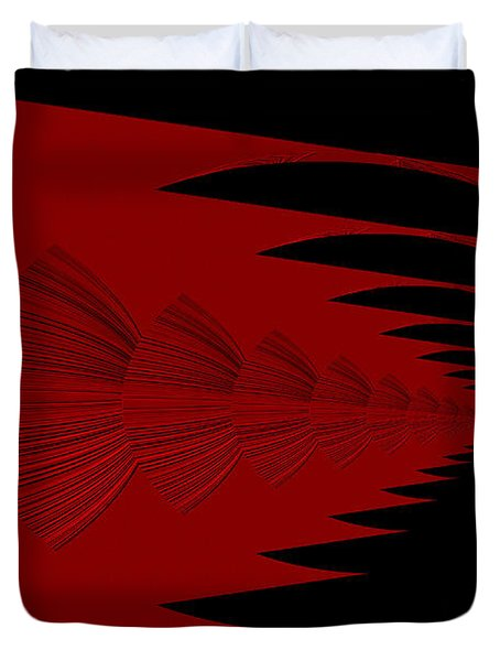 Red And Black Design Duvet Cover