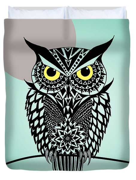 Owl 5 Duvet Cover by Mark Ashkenazi