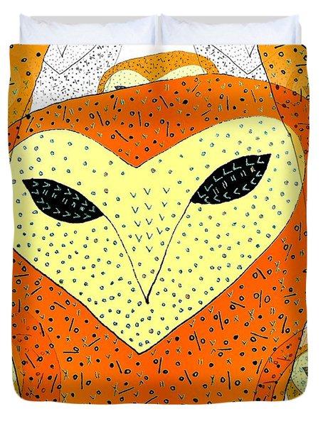 owl Duvet Cover by Barbara Moignard