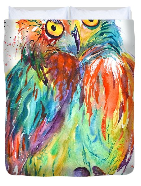Owl Be Seeing You Duvet Cover by Beverley Harper Tinsley