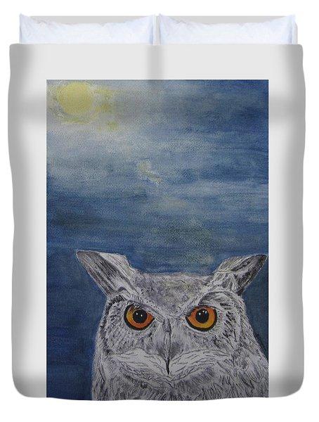 Owl By Moonlight Duvet Cover