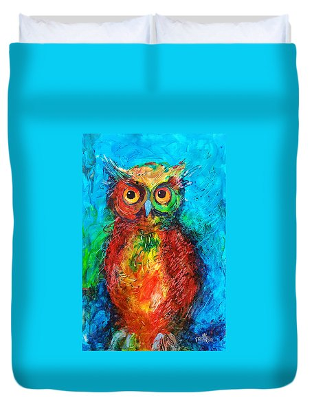 Owl In The Night Duvet Cover
