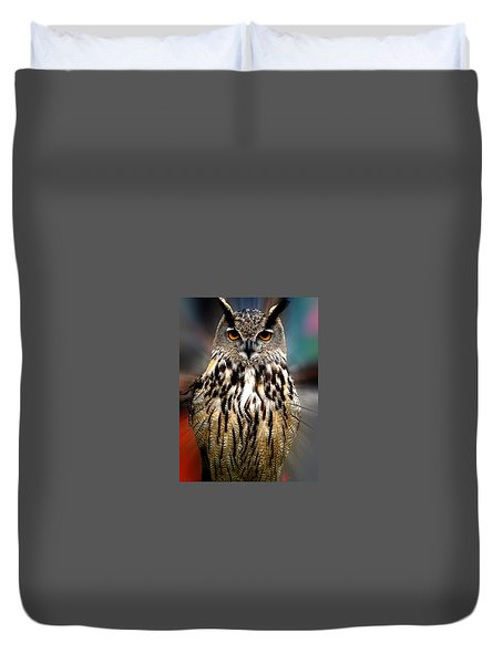 Owl Living In The Spanish Mountains Duvet Cover