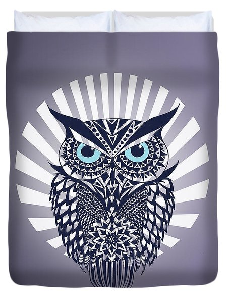Owl Duvet Cover by Mark Ashkenazi