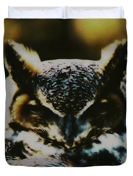 Owl Portrait Duvet Cover