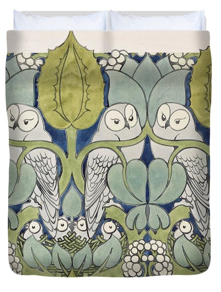 Owls, 1913 Duvet Cover by Charles Francis Annesley Voysey