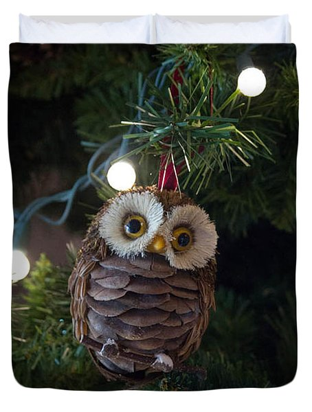 Owly Christmas Duvet Cover
