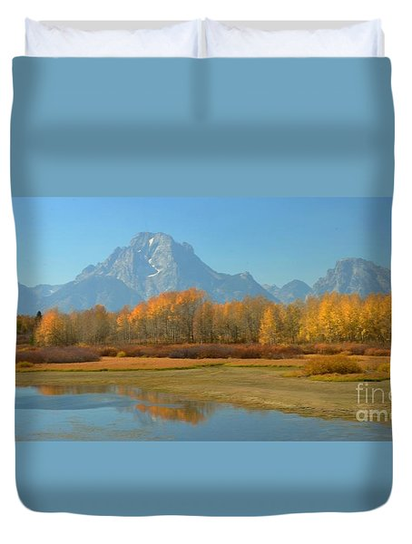 Oxbow Bend Duvet Cover by Kathleen Struckle