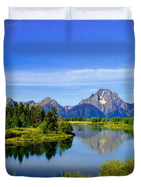 Oxbow Bend Duvet Cover by Robert Bales