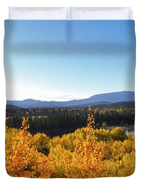 Oxbow Bend Trees On Snake River, Grand Duvet Cover