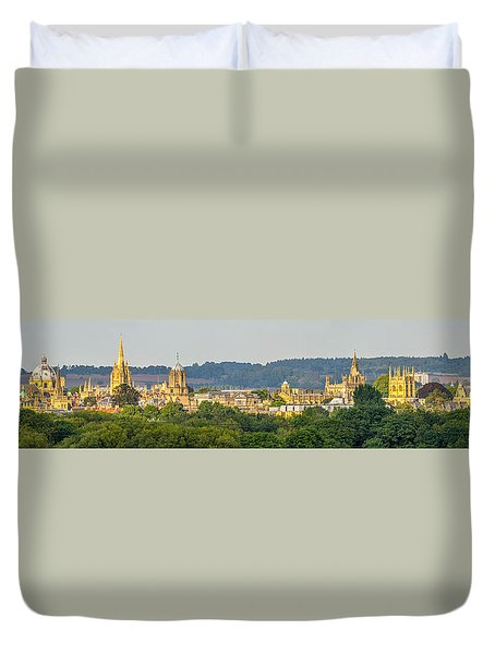 Oxford University Panorama Duvet Cover by Ken Brannen