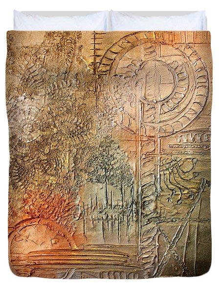 Oxidization Sacred Geometry Duvet Cover