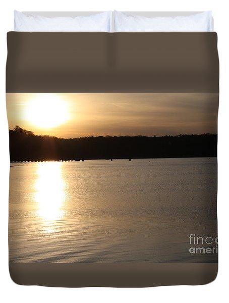 Oyster Bay Sunset Duvet Cover by John Telfer