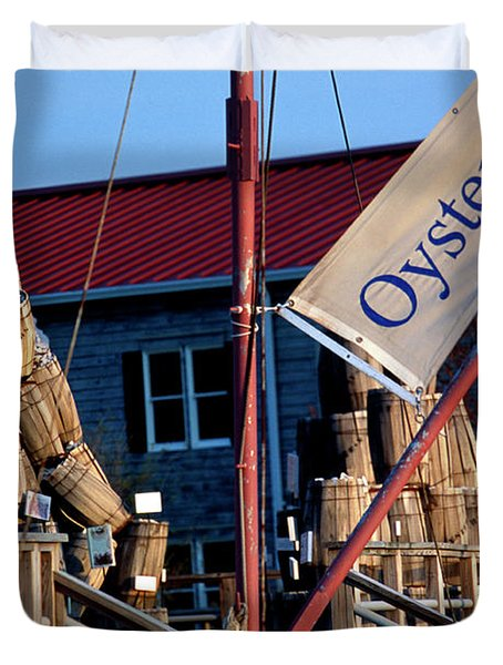 Oystering History At The Maritime Museum In Saint Michaels Maryland Duvet Cover