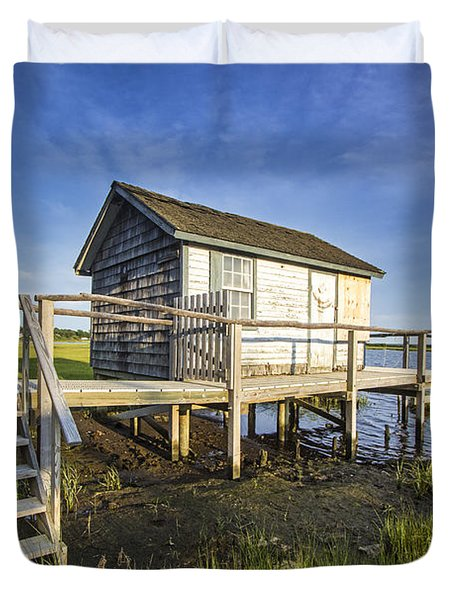 Oysterponds Creek Orient Ny Duvet Cover