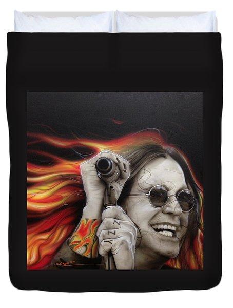 Ozzy's Fire Duvet Cover