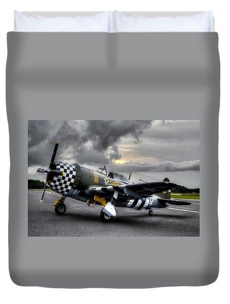 P-47 Sunset Duvet Cover