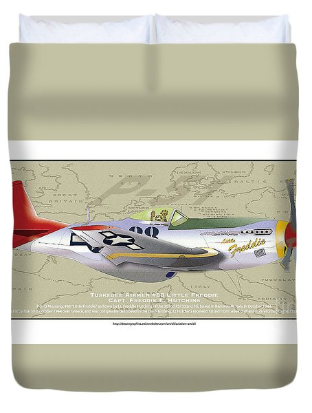 P-51  Duvet Cover by Kenneth De Tore
