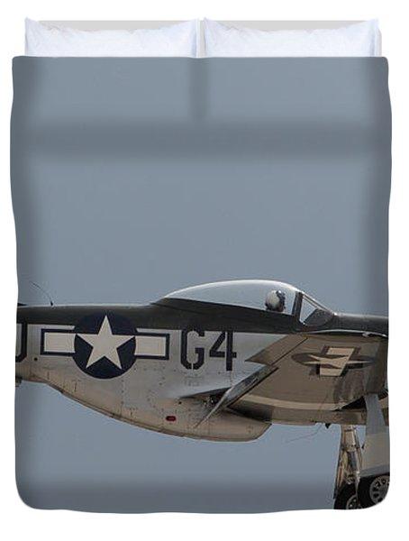 P-51 Landing Configuration Duvet Cover