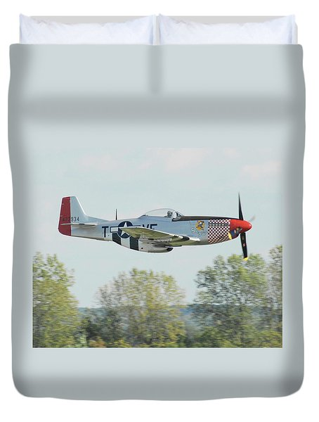P-51d Mustang Shangrila Duvet Cover