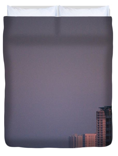 Panama City Beach In The Morning Mist Duvet Cover