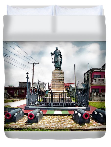 King Jaja's Mausoleum Duvet Cover