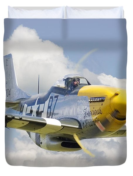 P51 Ferocious Frankie Duvet Cover by Pat Speirs