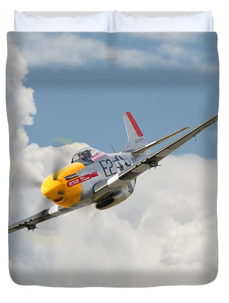 P51 Mustang And Me 262 Duvet Cover