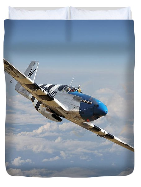 P51 Mustang - Symphony In Blue Duvet Cover