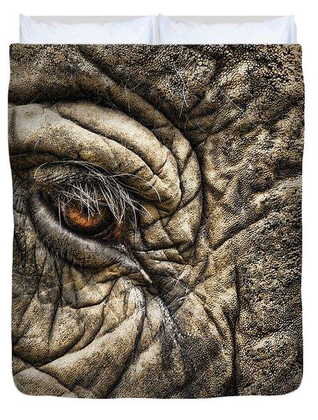 Pachyderm Skin Duvet Cover by Daniel Hagerman