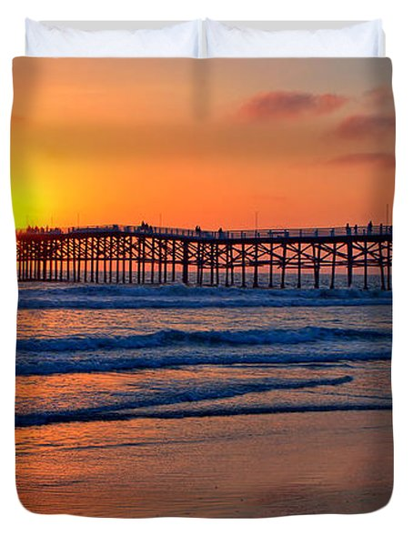 Pacific Beach Pier - Ex Lrg - Widescreen Duvet Cover