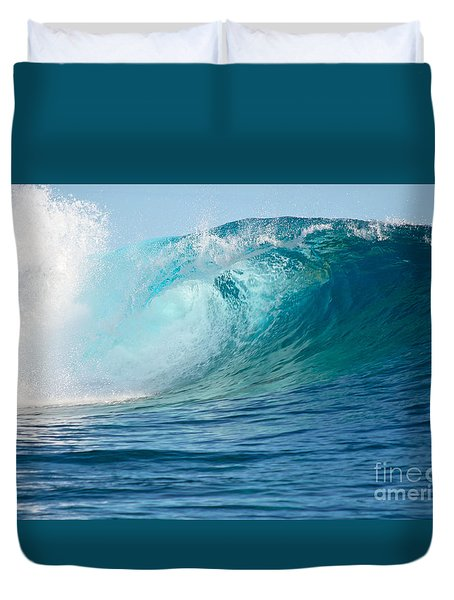 Pacific Big Wave Crashing Duvet Cover