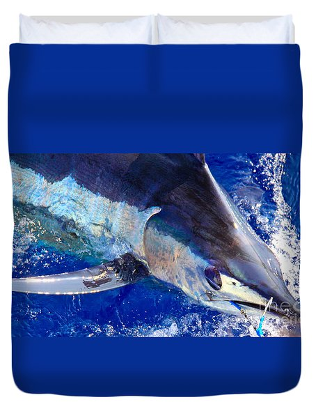 Pacific Blue Duvet Cover by Carol Lynne
