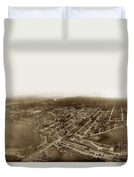 Pacific Grove 1200 From Feet Above Lovers Point And Monterey Bay 1906 Duvet Cover