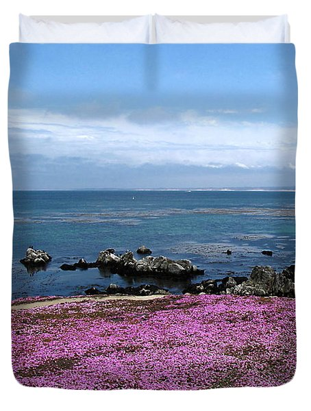 Duvet Cover featuring the photograph Pacific Grove California by Joyce Dickens