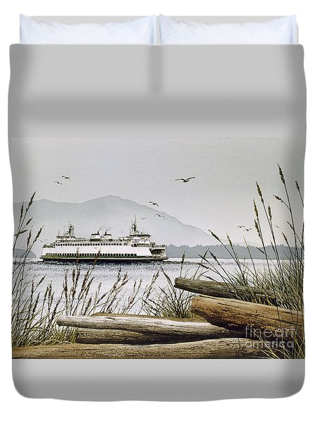 Pacific Northwest Ferry Duvet Cover