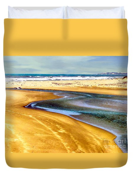 Pacific Ocean Beach Santa Barbara Duvet Cover
