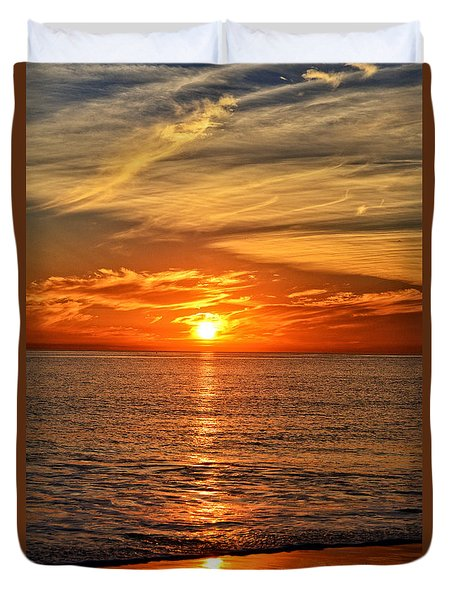 Pacific Ocean Sunset Duvet Cover
